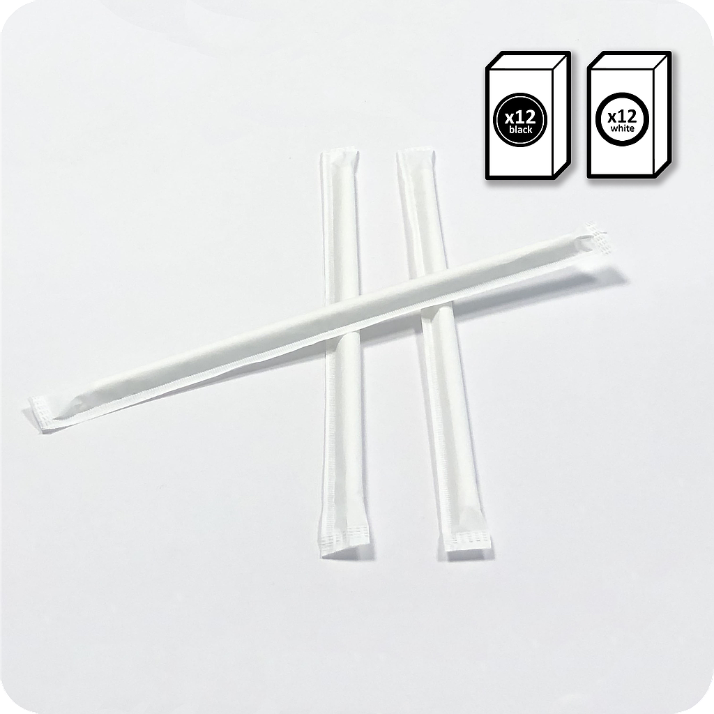 Up'nJoy 24 boxes x 125 single packed straws Ø 6 mm x 195 mm